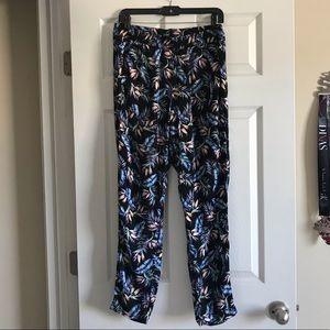 H&M floral lightweight pants